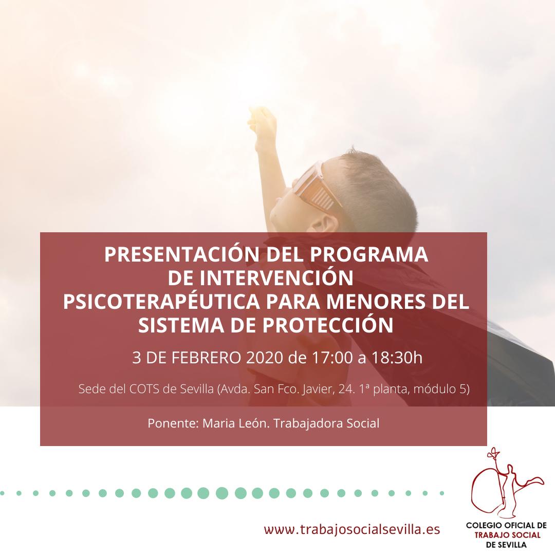 Presentación del programa de Intervención Psicoterapéutica par amenores del Sistema de Protección