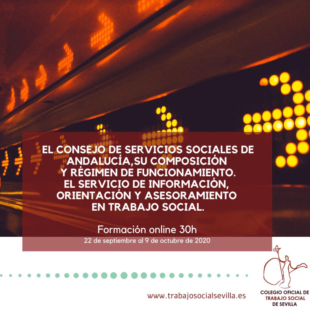 Cartel del curso El consejo de servicios sociales de Andalucía