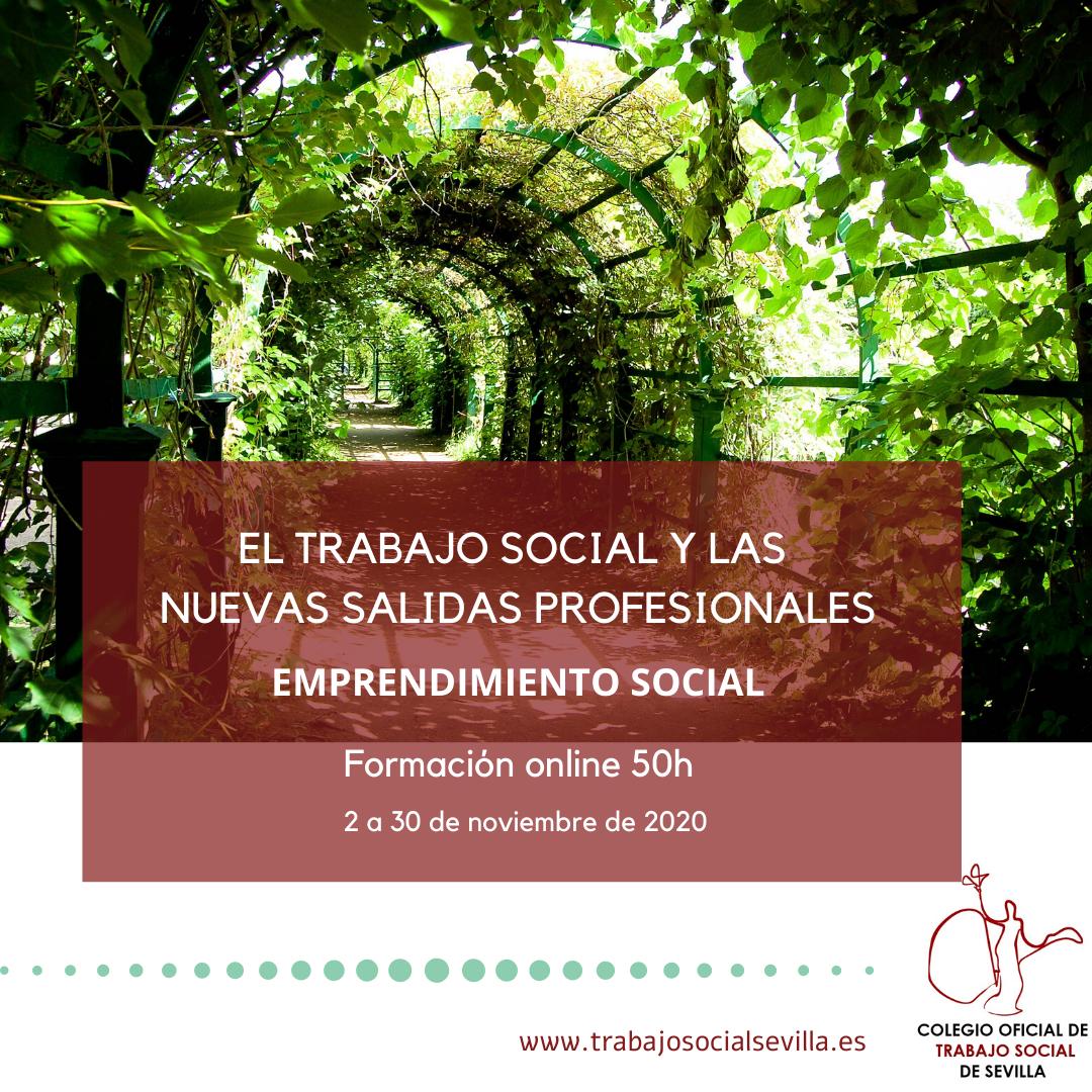 Cartel del curso El trabajo social y las nuevas salidas profesionales