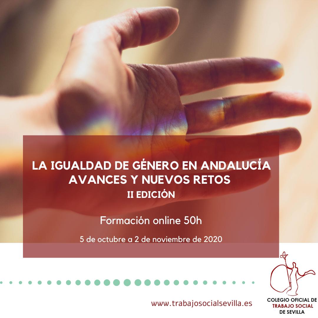 Cartel del curso La igualdad de género en Andalucía