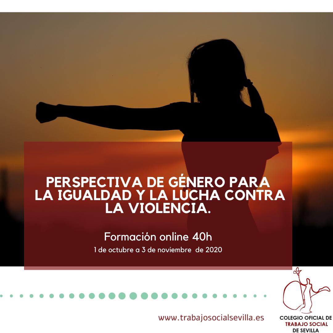 Cartel del curso Perspectiva de género para la igualdad y la lucha contra la violencia